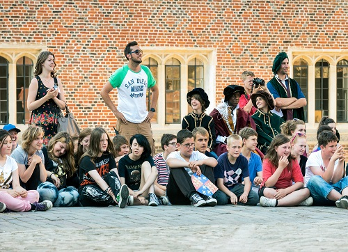 Staff and students at Hampton Court