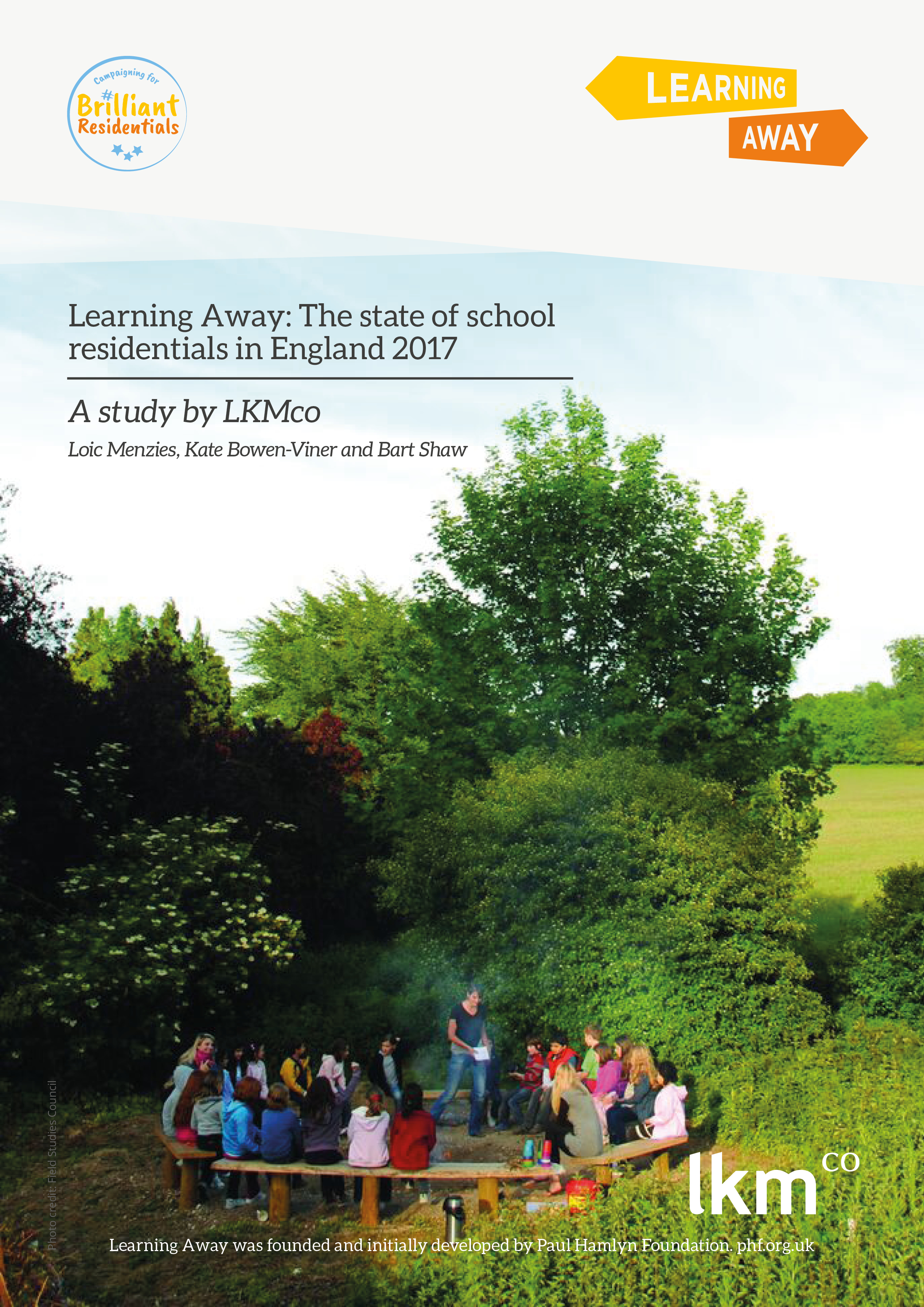 The state of school residentials in England 2017 report cover