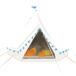 small icon of a tent